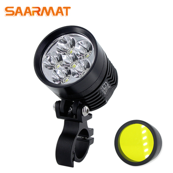 Çift Renk led moto rcycle far DRL Phare Scooter Phares Anti-Brouillard Spot moto ATV Travail Spot Işık Kafa lamba