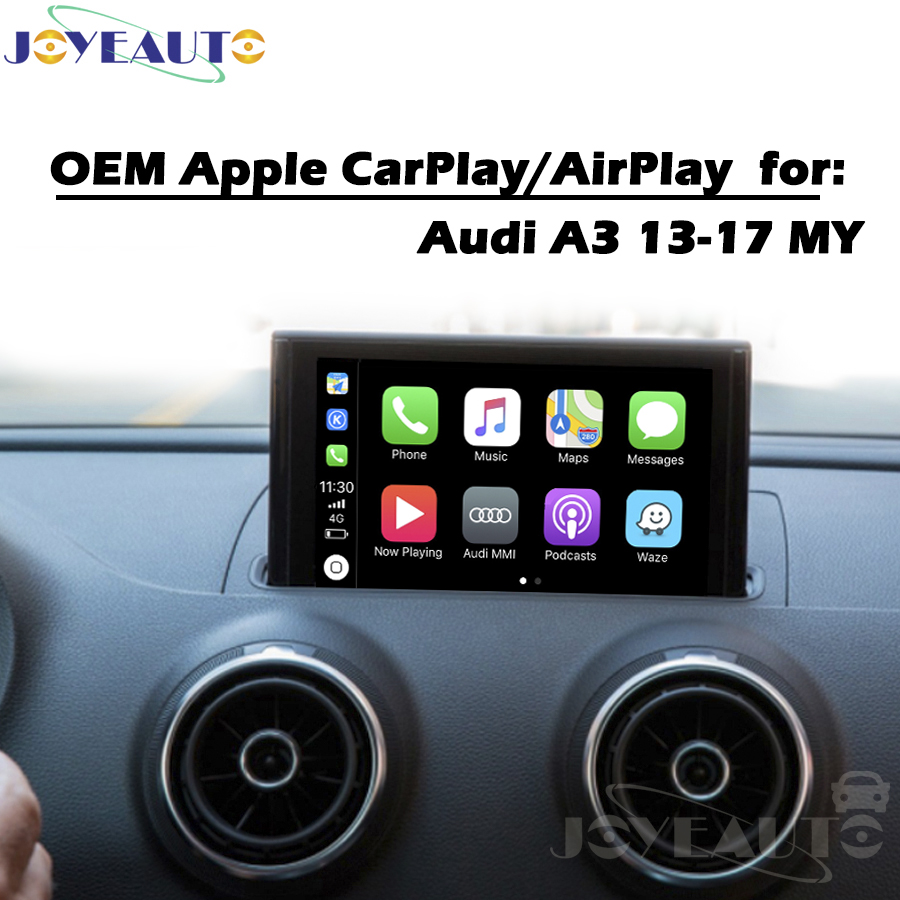 Araba multimedya A3 3G MMI 13-17MY Akıllı CarPlay Kutusu OEM Apple Carplay Android Oto IOS Airplay Araba Oyun Güçlendirme audi için