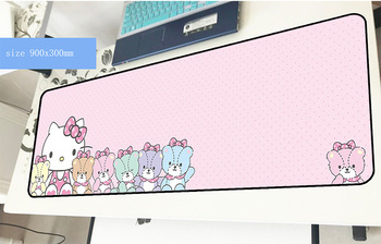 Hello kitty mouse pad 900x300x3mm Güzel mousepads en iyi oyun mousepad gamer mevcut kişiselleştirilmiş fare altlığı klavye pc pad