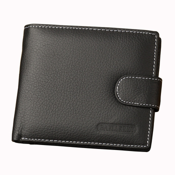 Brand Baellerry Men Short Hasp Wallet Small Purses Male Genuine Leather Money Billfold Coin Pocket Card Holders Clutch Bag Clips